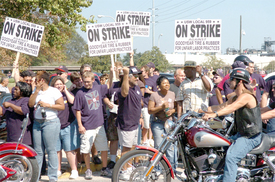 Goodyear workers strike to stop plant closings