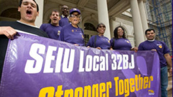 "Texting 32BJ contract talks could read ""We r on strk"""