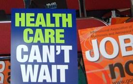 Senate health bill protested at labor convention