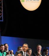 Obama raises the roof at labor convention in Pittsburgh