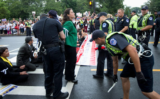 Mass arrests at immigration protest spur coalition to remake America