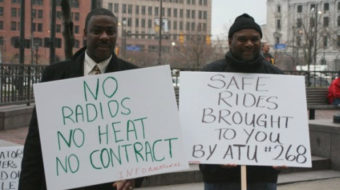 Transit workers' rally highlights safety, budget woes