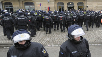 Amid political turmoil, Germans rally against neo-Nazis in Dresden