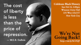 New York African American History Event 2/24: We're Not Going Back!
