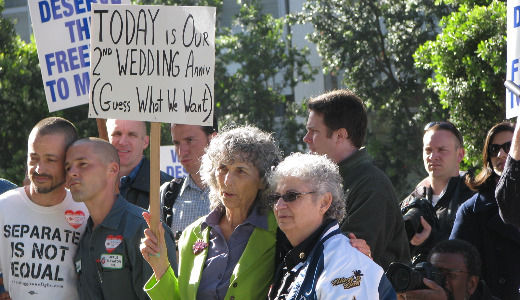 Marriage equality supporters celebrate Prop. 8 ruling