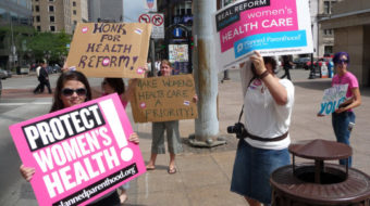 Senate begins health reform debate, women plan protest