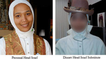 Disney worker rejects employer's substitute hijab