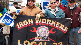 Video: Union power erupts in Indiana
