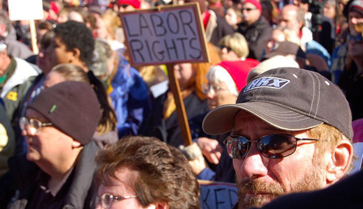 Capitol battle Day 9: Walker runs from Wisconsin workers