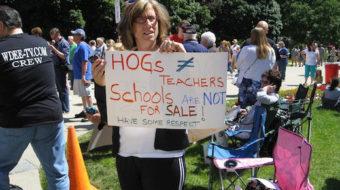 "Michigan rally slams Republicans' ""Education Inc."" agenda"
