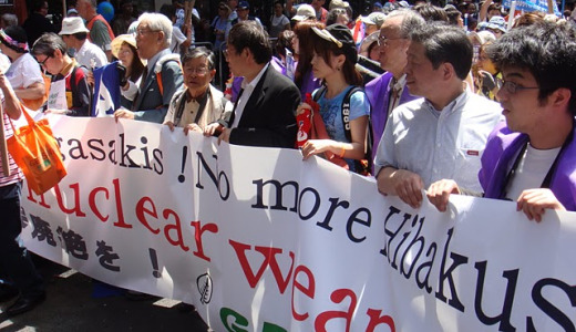Thousands march to UN for nuclear disarmament