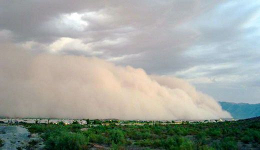 Huge Phoenix dust storm tied to climate change