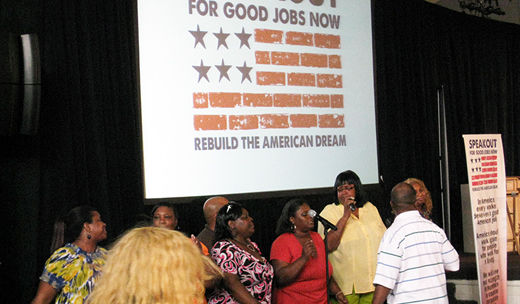 """""""Good Jobs"""" tour: Detroiters say we need jobs, not spending on war"""