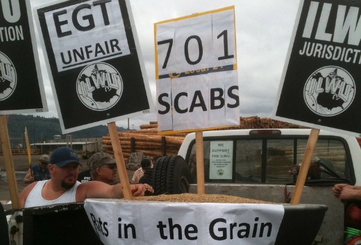 Port workers spend Labor Day on picket line