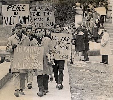 Today in labor history: Vietnam war protests, draft card burned
