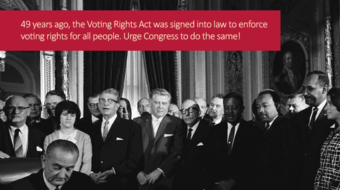 Today in labor history: Voting Rights Act signed
