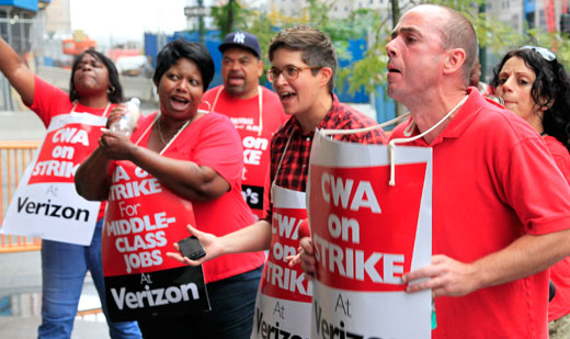45,000 Verizon workers strike over company greed