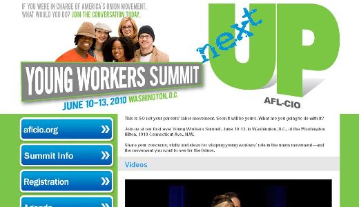 Young union activists quiz top leaders, plan networks