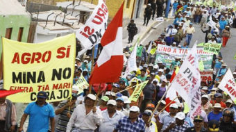 Protests against Peru's Tia Maria Mine bolstered by international solidarity
