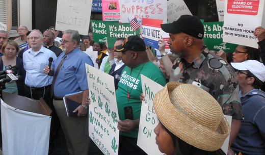Ohioans rally to support voting rights