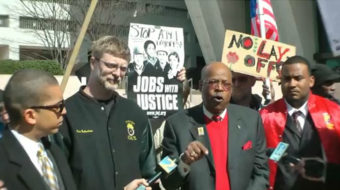 Tents return as Occupy Atlanta protests AT&T layoffs