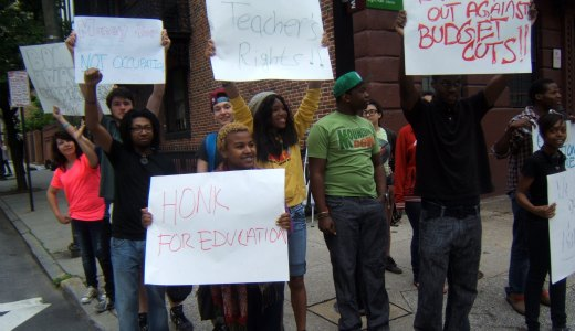 Baltimore students protest cuts