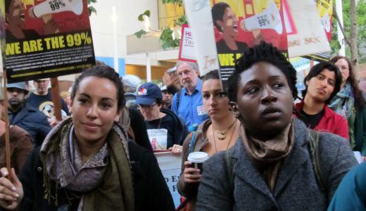 Protest shuts down Wells Fargo