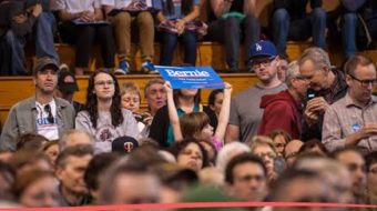 Native Americans gather to support the Sanders campaign