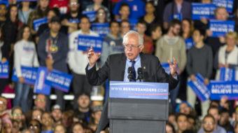 Sanders wins Wisconsin in a landslide, works to build unity