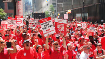 Verizon working families strike for better workplace