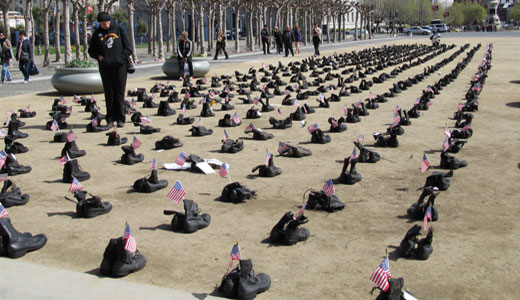 Veterans, families mark 9th anniversary of Iraq War