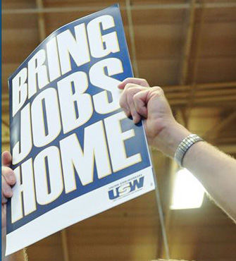 Steel workers campaign to bring outsourced jobs home