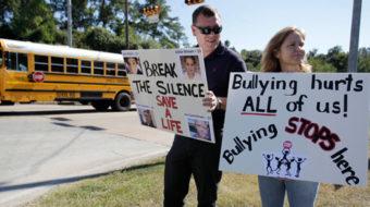 Millions wear purple, GOP hopeful bashes gays