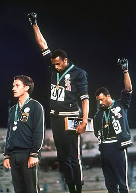 Try telling John Carlos that sports and politics don't mix