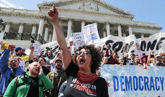 Hundreds arrested at U.S. Capitol for demanding restoration of democracy