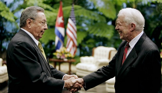 Carter calls for Cuban 5 release, end to blockade