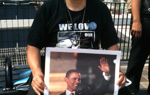 "On the streets in Charlotte: ""Obama … 4 more years!"""