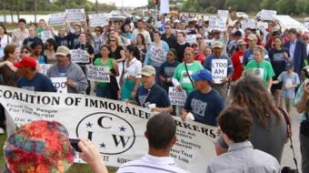 """""""Fast for Fair Food"""" ends with 1,000 marching"""