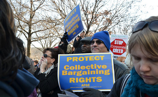 Union membership declined by 398,000 in 2012