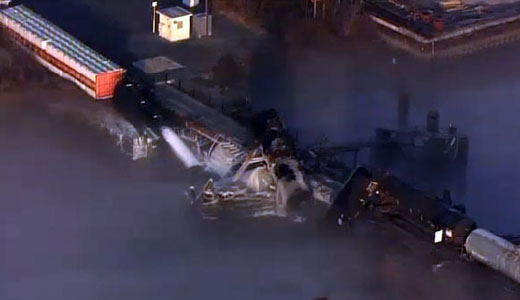 Train derailment causes chemical spill in South Jersey