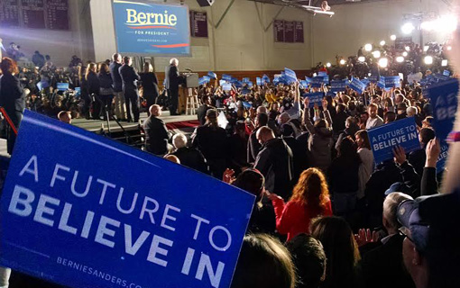 """Sanders' """"political revolution"""" wins in New Hampshire primary"""