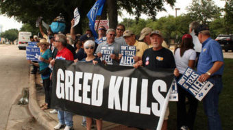 Texans rally against ALEC, the right-wing stink tank