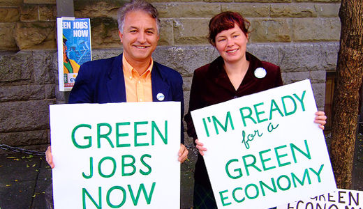 Steelworkers president talks up green jobs