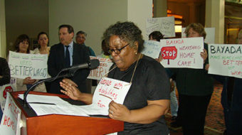 PA home care workers, patients protest company threat to cut pay