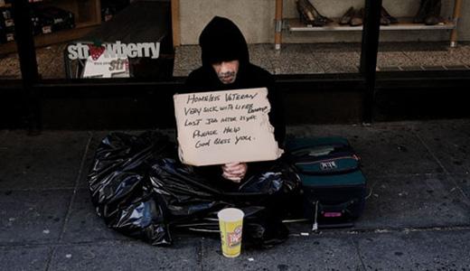 Over 75,000 veterans are homeless, VA report says