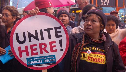 Congress Hotel strikers set record