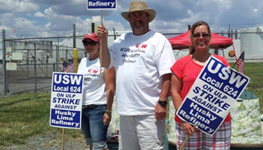 """Ohio refinery strikers: """"We're fighting for families"""""""