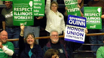 Illinois Gov. stops extending AFSCME pact as bargaining continues