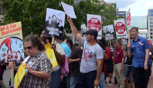 Video: Jobs with Justice, fired up, ready to fight