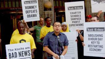 Chicago joins 12-city protest against Koch Tribune grab